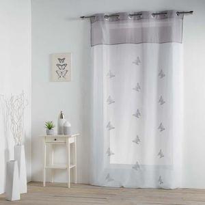 Douceur dInt/érieur GEOMIX Panneau /à /Œillets Polyester Blanc 240 x 140 x 0,1 cm
