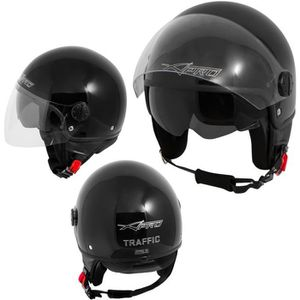 CASQUE MOTO SCOOTER Casque Moto Scooter Jet Double Visiere pare-soleil