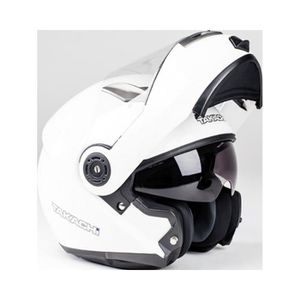 CASQUE MOTO SCOOTER Casque modulable TK380 blanc - Taille L TAKACHI