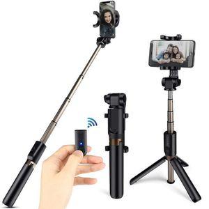 PERCHE - CANNE SELFIE Bâton Selfie Bluetooth Télescopique, 3 en 1 Perche