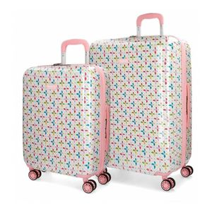Pepe Jeans Pasqui Valise Trolley Cabine Multicolore 40x55x20 cms Rigide ABS Serrure TSA 38L 2,5Kgs 4 roues Bagage /à main