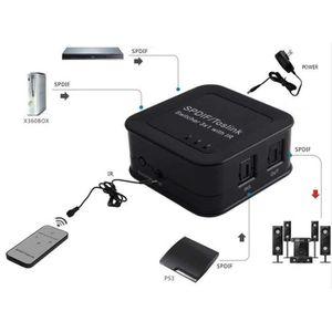 CÂBLE TV - VIDÉO - SON 3x1 SPDIF Numérique Optique Switch Audio/ Son