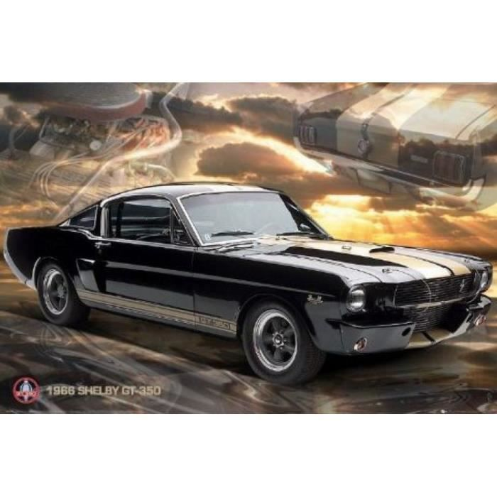 voitures poster mustang 1966 shelby gt 350 6 achat. Black Bedroom Furniture Sets. Home Design Ideas