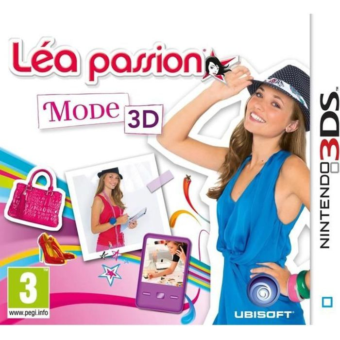 lea passion mode 3d jeu console 3ds achat vente jeu 3ds lea passion mode 3d jeu 3ds. Black Bedroom Furniture Sets. Home Design Ideas