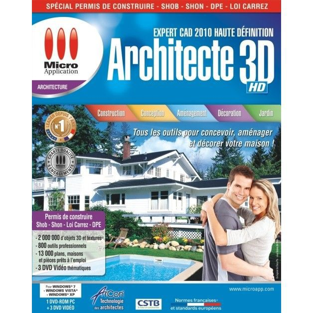 3d architecte expert cad 2010 haute definition p achat for 3d architecte expert