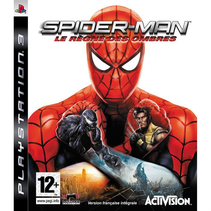 spiderman achat vente jeu ps3 spiderman le regne des ombres cdiscount. Black Bedroom Furniture Sets. Home Design Ideas