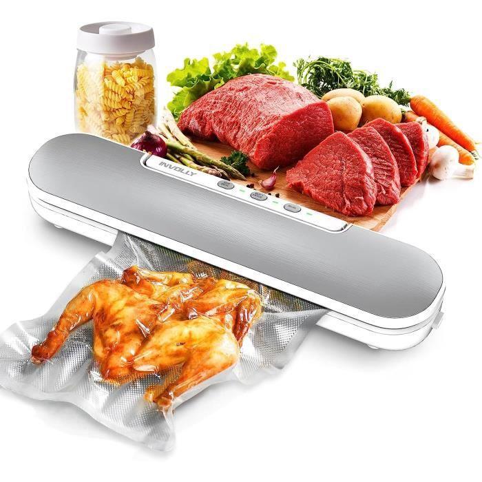 CalmDo Machine sous Vide V69 Appareil de Mise sous Vide Alimentaire Automatique avec 10 Sacs sans BPA pour Aliments