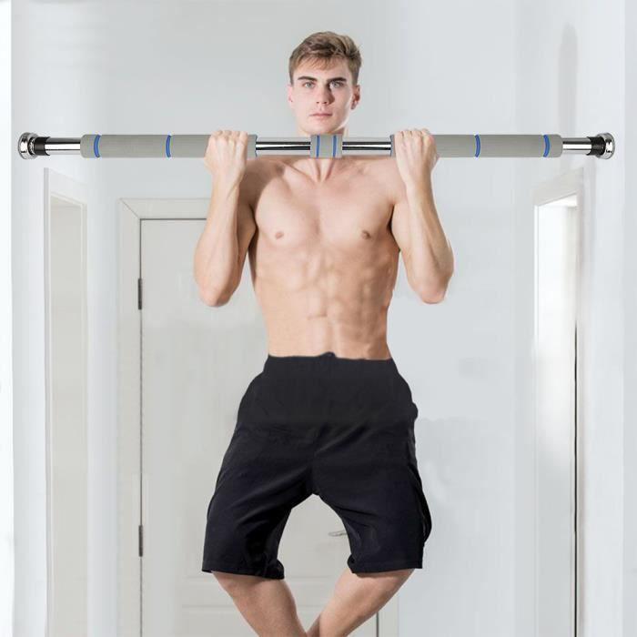 WSdwqaa% Barre de traction pour porte 80 à 130 cm - Pull-ups Accueil barre horizontale Équipement de fitness / Gris!!!