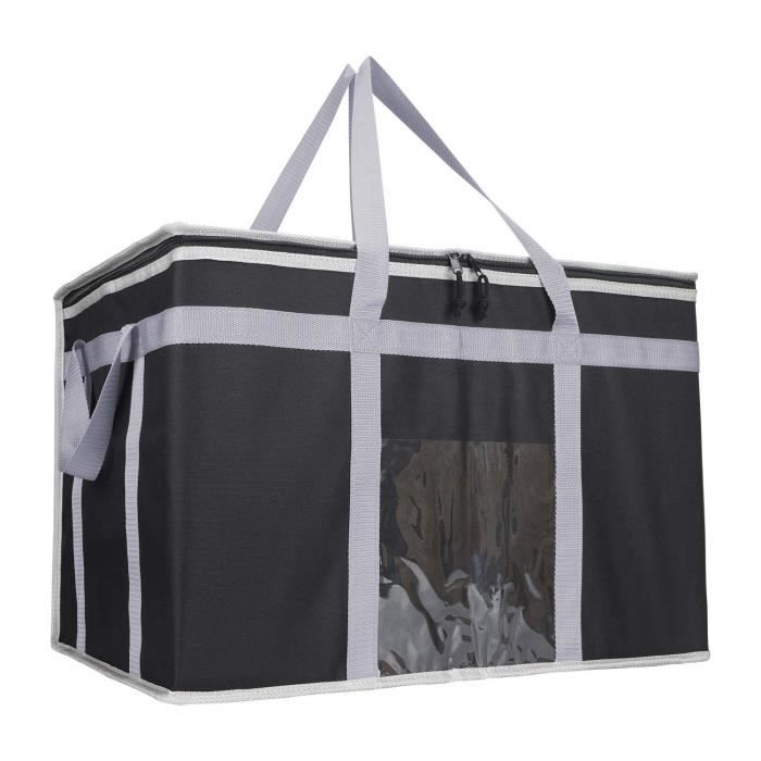 Sac Isotherme Courses Grand 80L Sac Isotherme Repas Black Sac Ados Isotherme Adulte Sac Isotherme Repas Bebe[61]
