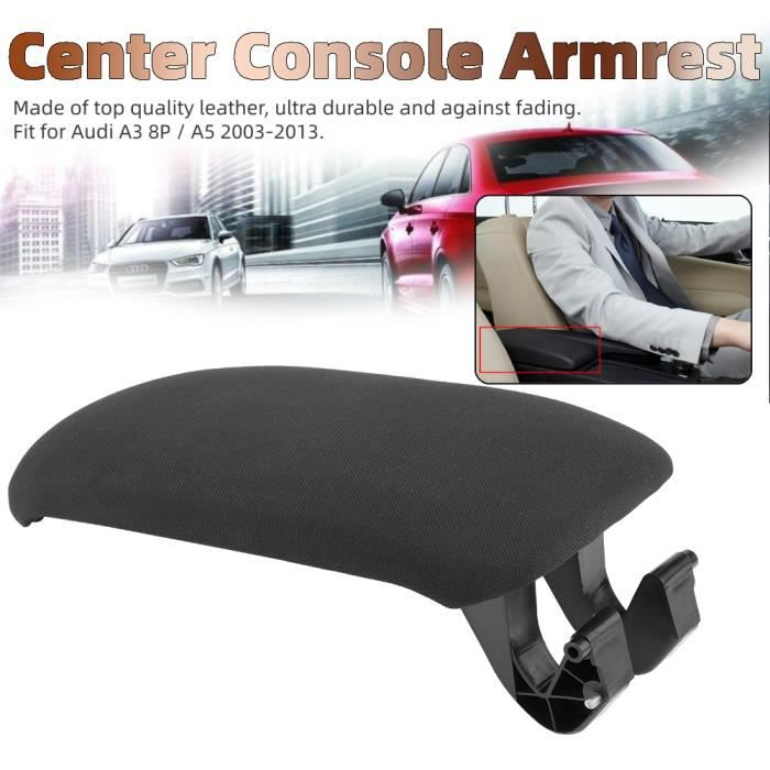Couvercle d'accoudoir de Console centrale en tissu noir de voiture pour Audi A3 8P - A5 2003-2013 8P0864245P HB020 Haute Qualité