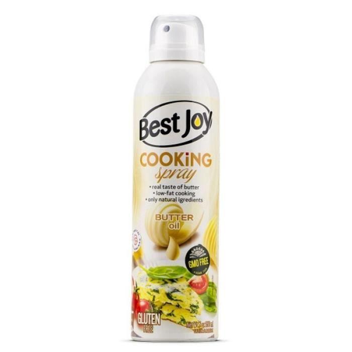 Spray Cuisson 100% Huile de Beurre 250ml en Aérosol Pour une Cuisson Matières Grasses Sans Gluten ni OGM Non Inflammable