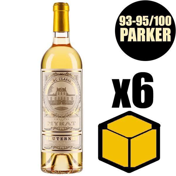 X6 Château de Myrat 2015 75 cl AOC Sauternes 2ème Cru Classé Vin Blanc Vin Liquoreux