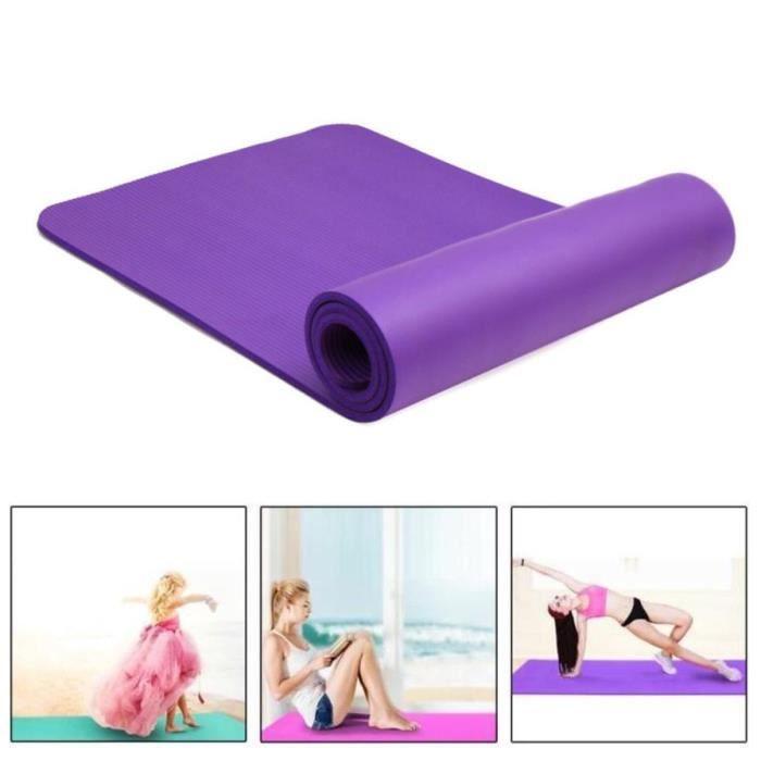 Tapis de yoga 183cm x 61cm - violet - Accueil du matériel de gymnastique! Tapis en mousse pour le sport à domicile