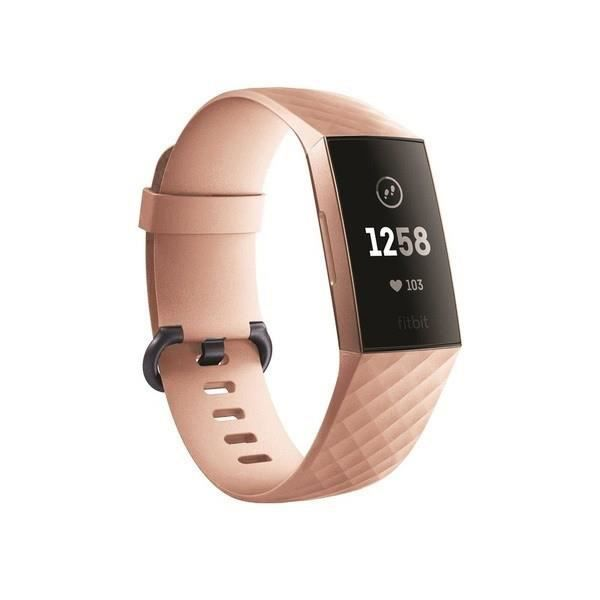 Bracelet Silicone pour FITBIT Charge 4 Taille S 95-103mm Poignet Sport (CHAMPAGNE)