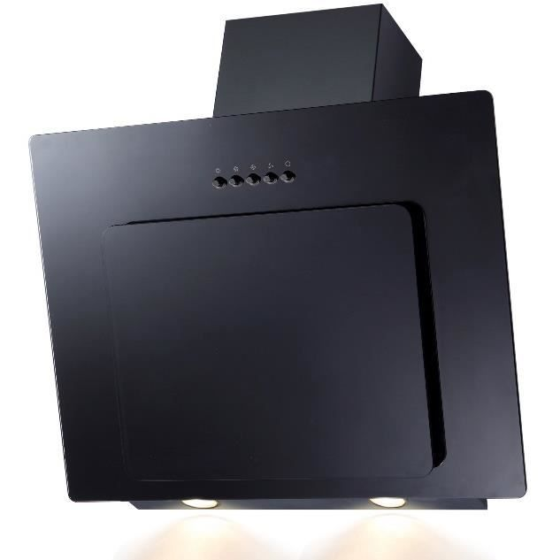 SH60-BL hotte aspirante en verre noir - LED - aspiration des bords - 60cm