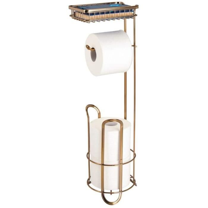 BROSSE WC ign distributeur papier toilette sans perccedilage porte papier WC pour salle de bains valet WC en meacutetal avec s652