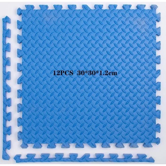 Tapis de sol,Tapis de sol de gymnastique en mousse EVA pour bébé, 12 pièces, Puzzle, exercice, jeu, carreaux - Type 12PCS -F