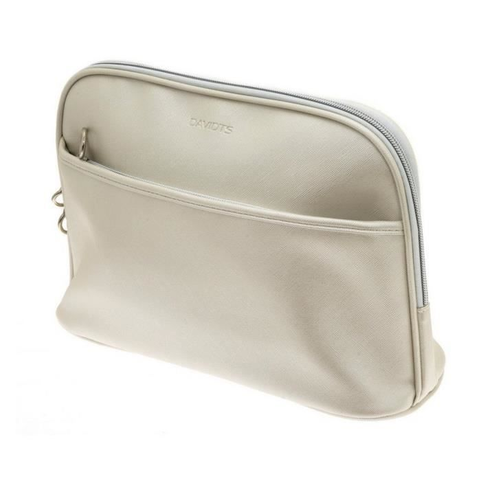 Trousse maquillage toilette Zip'n go Davidt's beige