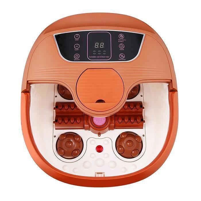 Thalasso Pieds Massage Bain Masseur de pieds Spa automatique Rouleaux -110V 500W- UK prise-Brun