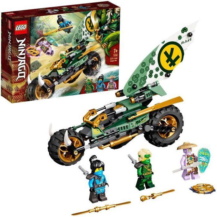 LEGO® 71745 NINJAGO® La Moto de la Jungle de Lloyd Jouet avec les Minifigurines de Lloyd et Nya pour Enfant de 7 Ans et +