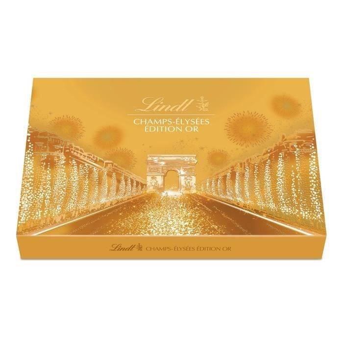 LINDT Boîte de chocolat Champs-Elysées Edition Or - 468 g