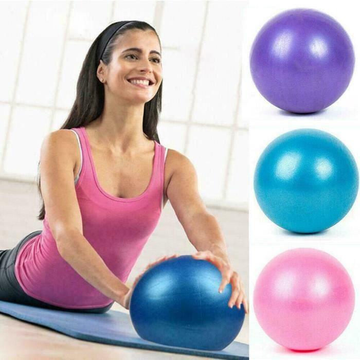 BALLON DE YOGA/FITNESS - 25CM -Ballon de yoga 25cm Ball ballon d'équilibre Fitness Gym Yoga Balance Ballon d'Exercice en PVC Rose