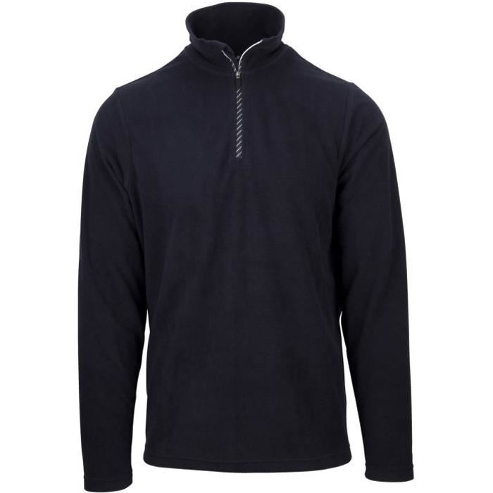STARLING Pull Polaire Col Zippé - Homme - Marine