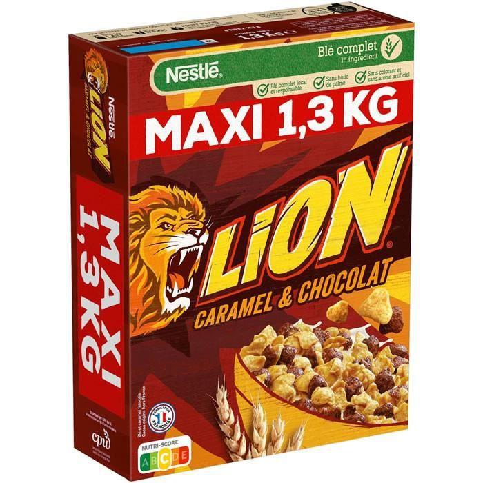Cafe Moulu - LION : Céréales au Caramel et au Chocolat 1.3 kg
