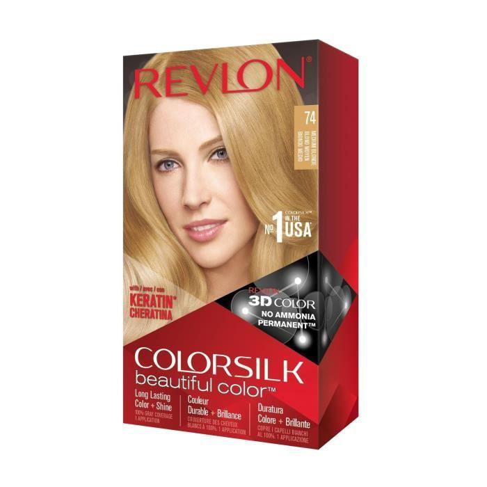 COLORSILK Coloration N°74 - Blond moyen - 59,1 ml