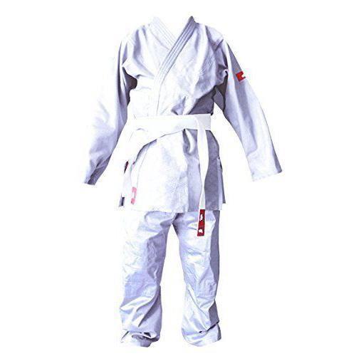 Softee -Judogi Yosihiro-Kimono Judo-100 % Alg.-Incl. Ceinture Blanco-Bleu Taille 0/130 cm - 49001.028_M