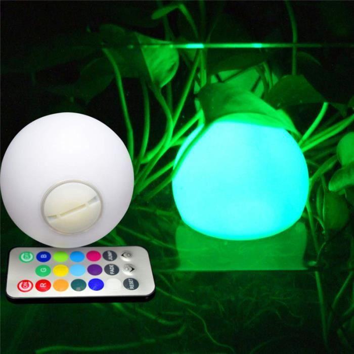 Lumière de boule colorée, Lumières de piscine flottantes, Boule lumineuse LED, décorative, Lampe pour extérieur LAMPE A POSER