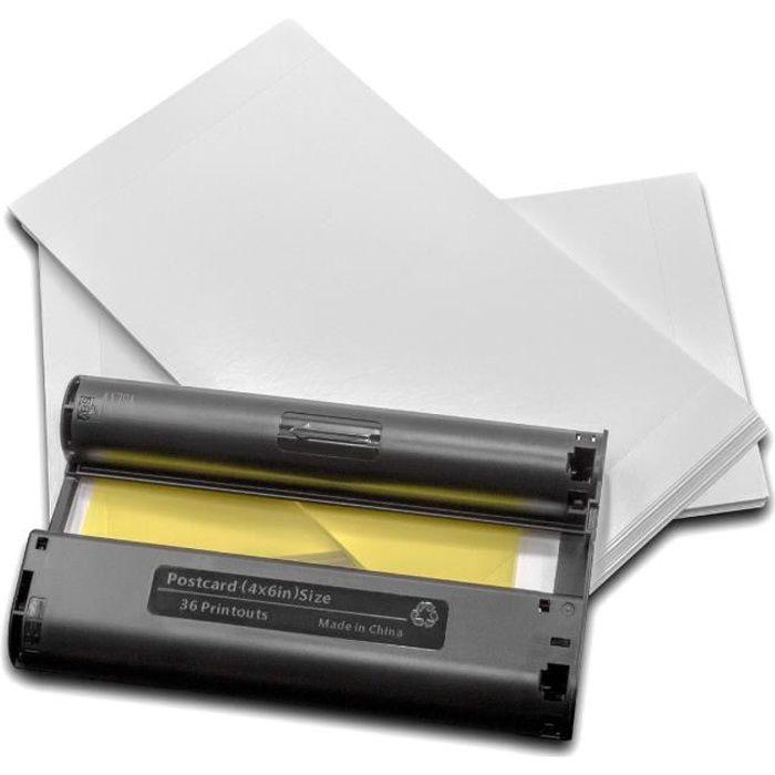 vhbw cartouches d'encre pour imprimante photo Canon Selphy CP 100, CP 1000, CP 1200, CP 1300, CP 200, CP 220, CP 300