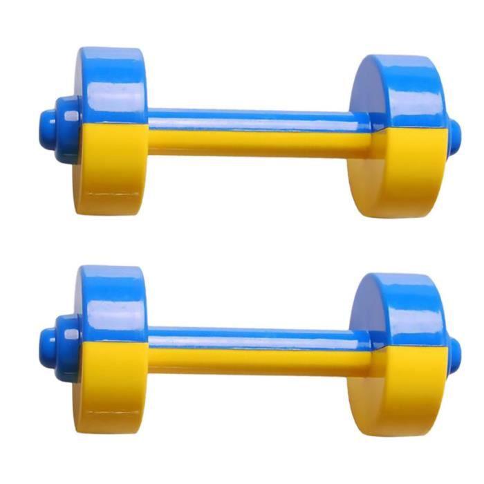 1 Paire Enfants Haltère Jouet En Plastique Haltérophilie Équipement De Gymnastique Accessoires BARRE - BARRE - HALTERE - POIDS