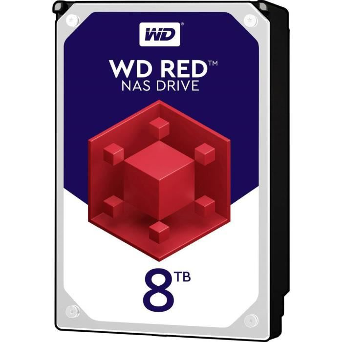 Western Digital WD80EFAX Disque dur interne 8.9 cm (3.5 pouces) 8 To Red™ Bulk SATA III