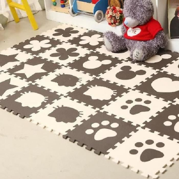 Glife09157-12 Pcs Café Mignon en Mousse EVA Motif Puzzle Ramper Tapis Bébé Jouets Jeux pour Enfants