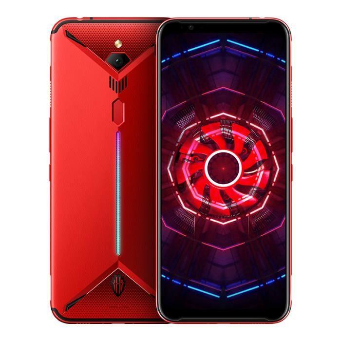 Smartphone ZTE nubia Red Magic 3 Téléphone Gaming 8Go + 128 Go 6.65- Snapdragon 855 avant 48MP arrière 16MP 5000mAh Rouge