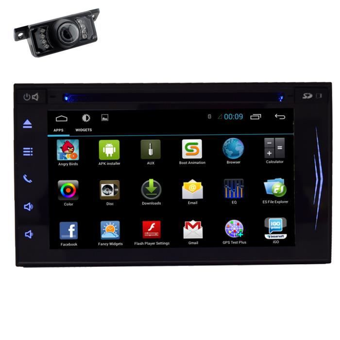 android 4 4 os autoradio cran tactile capacitif gps navi. Black Bedroom Furniture Sets. Home Design Ideas