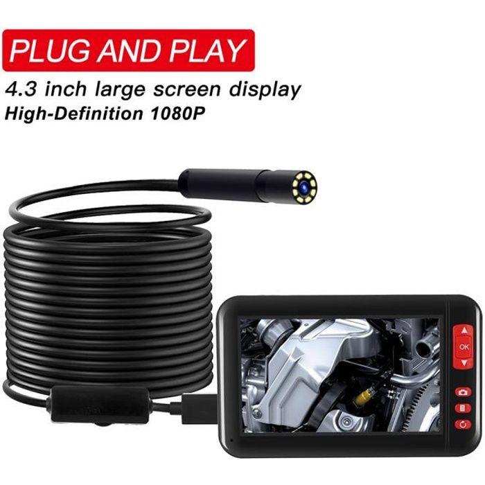 Estink WiFi Endoscope 7 mm 300 M/égapixels WiFi dInspection Cam/éra Endoscopique IP67 /Étanche avec 6 LEDs pour Android ou PC- HD 640 x 480 VGA 5M PC Seulement 1280 x 720