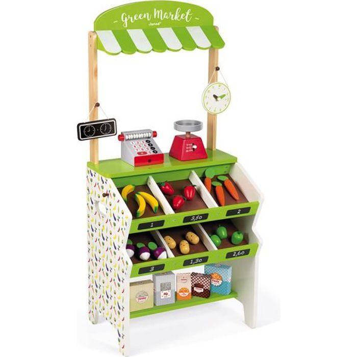 """Erzi 28241 Assortiment /""""Légumes/"""" en caisse bois pour épicerie NOUVEAU #"""