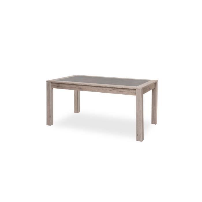 TABLE À MANGER SEULE MALTA Table à manger 8 personnes - Décor Chêne Sor
