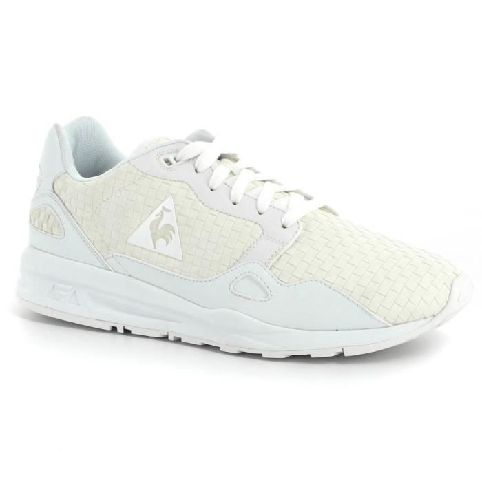 basket le coq sportif lcs r900 woven blanc blanc achat vente basket cdiscount. Black Bedroom Furniture Sets. Home Design Ideas