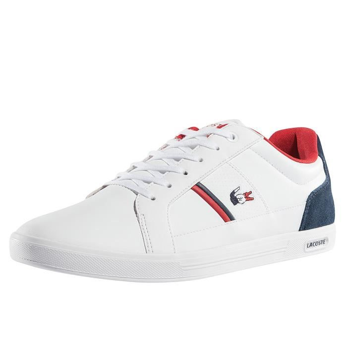 bb2acac5f7 Lacoste Homme Chaussures / Baskets Europa 317 SPM LT Blanc Blanc ...
