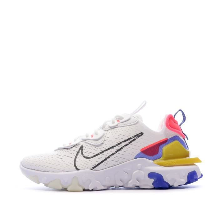 Baskets Blanches Femme Nike React Vision Multicolor - Cdiscount ...