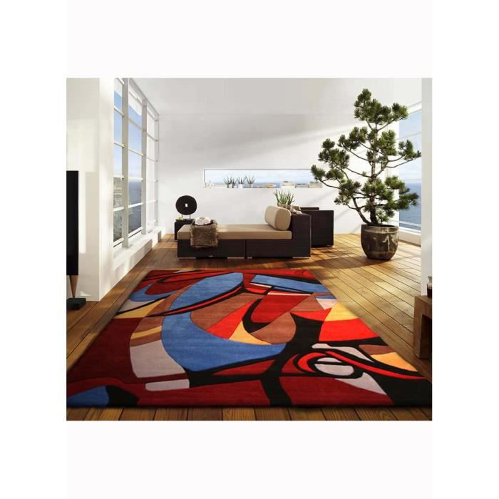 tapis de s jour abstarlli multicolor 200x300 par unamourdetapis tapis moderne achat vente. Black Bedroom Furniture Sets. Home Design Ideas