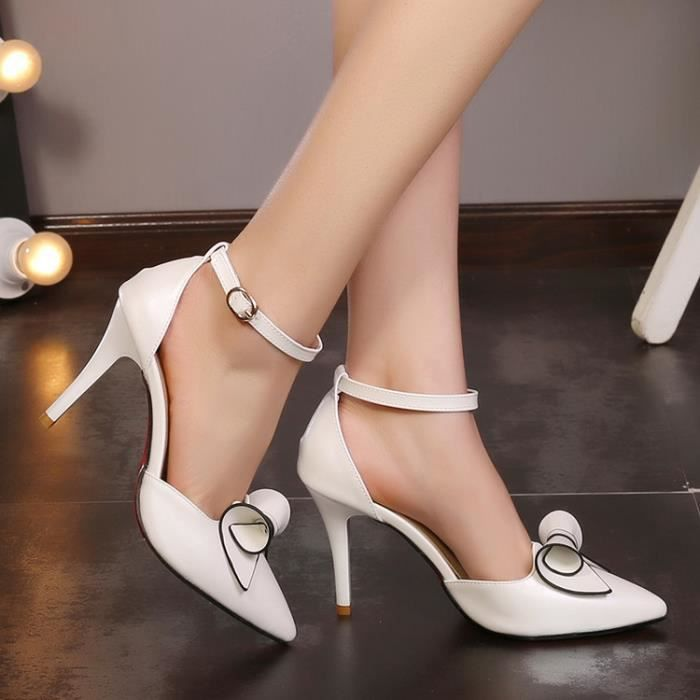 talons hauts-Pure Color High Heel Heel mince ba...