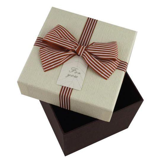 Int/érieur /à Pois et /Étoiles Imprimer Emartbuy Ensemble de 3 Luxe Rigide En Forme de Coeur Bo/îte Cadeau de Pr/ésentation Bo/îte Beige Avec Couvercle Blanc