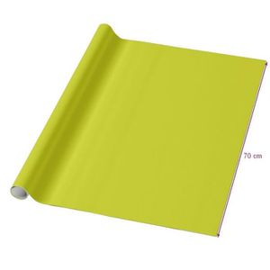 PAPIER CADEAU Papier cadeau uni Vert Anis largeur 70cm x Longueu