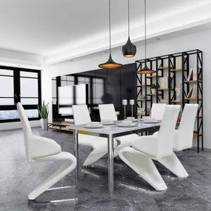 CHAISE Chaise de salle à manger  pcs Cantilever Cuir synt