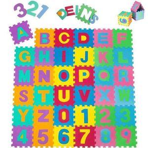 TAPIS - DALLES DE PARC 36 pcs Puzzle tapis mousse 32x32 cm - Jeu éducatif