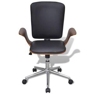 CHAISE DE BUREAU Fauteuil chaise chaise de bureau rotative en bois